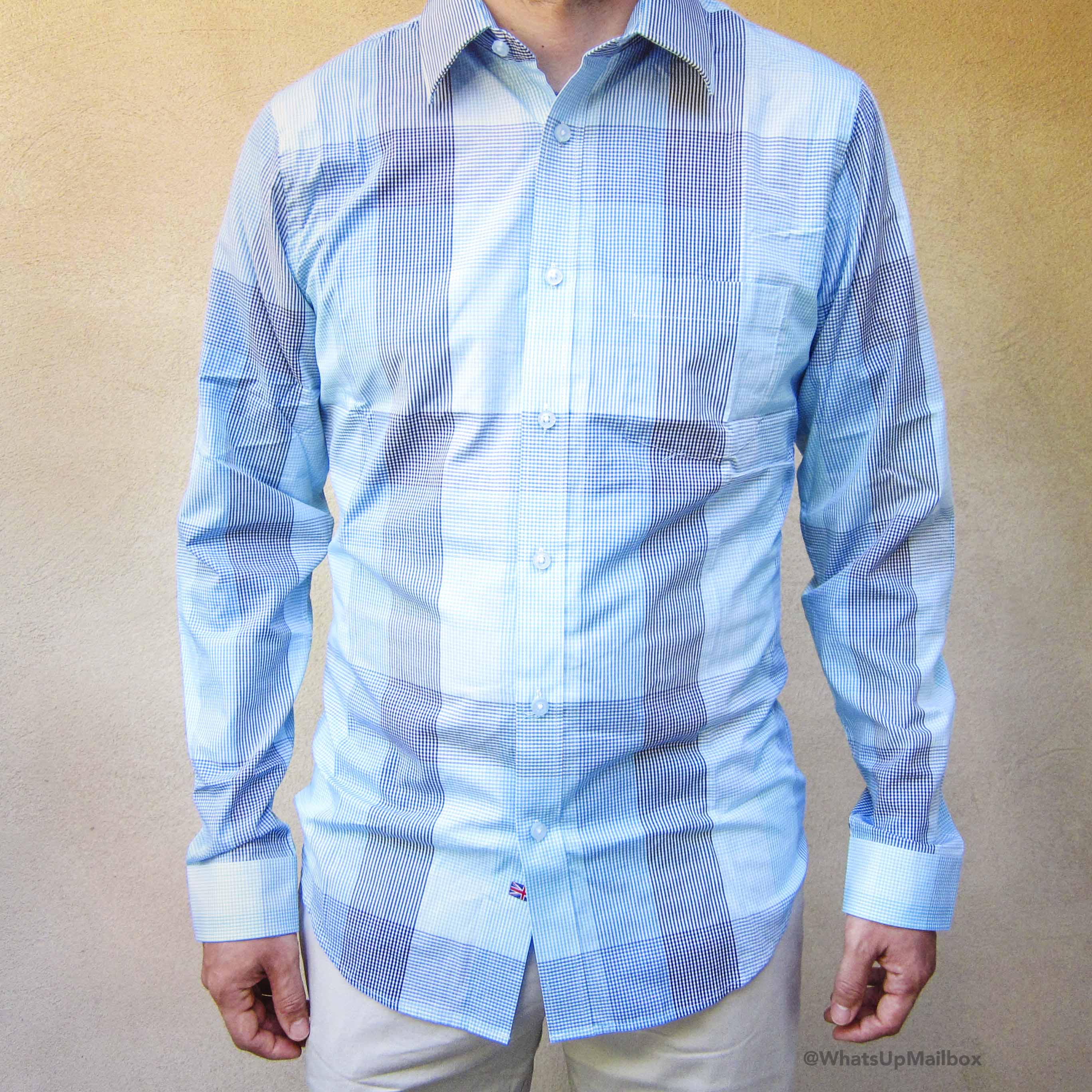 Trendy Butler - Thomas Payne Cedric Blue Classic Fit Long Sleeve Shirt