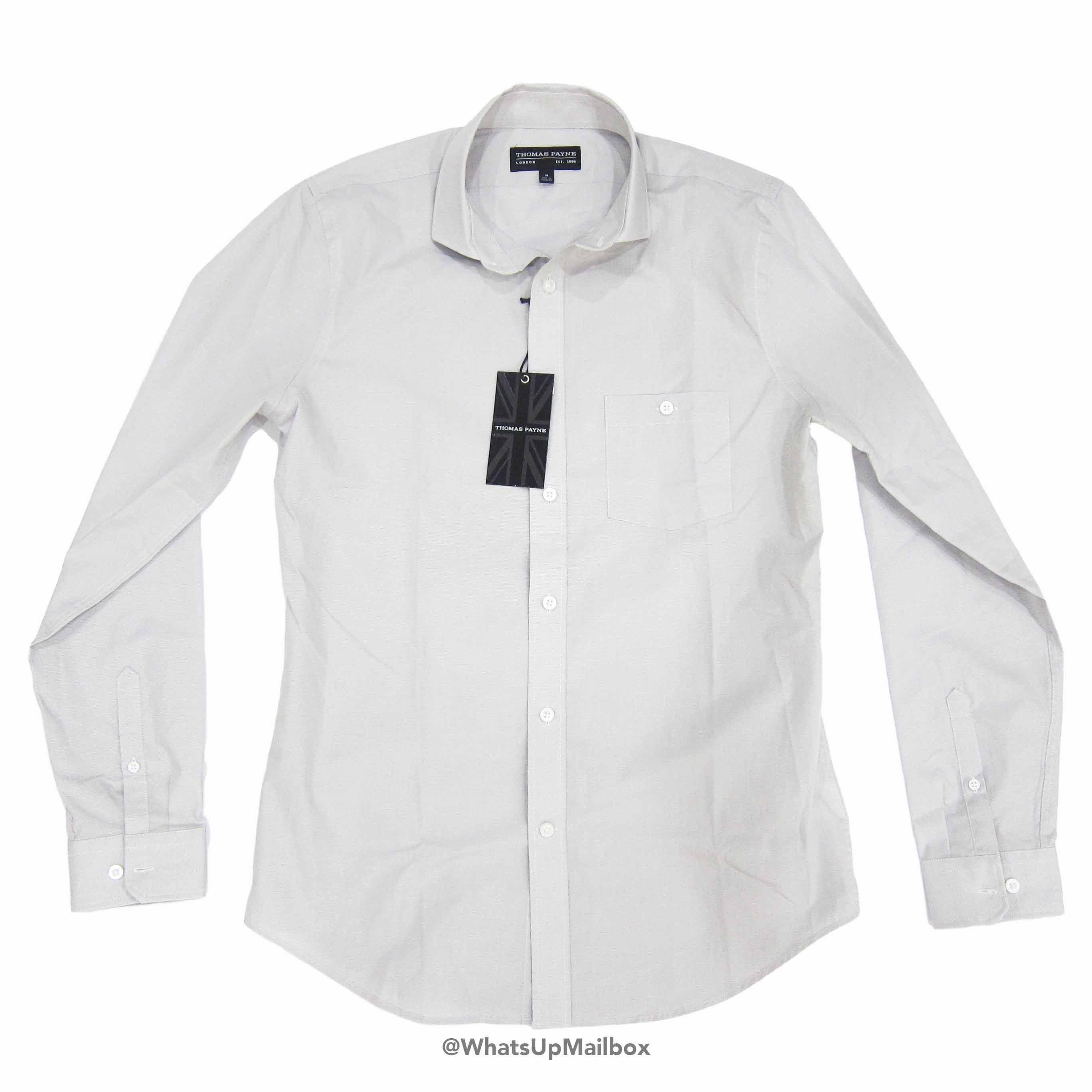 Thomas Payne - Rossmore Grey Pincheck Long Sleeve Shirt